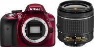 ���������� ���������� Nikon D3300 Kit 18-55 VR AF-P (VBA391K002) Red