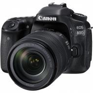 Зеркальная фотокамера Canon EOS 80D 18-135 IS USM WiFi (1263C040) Black