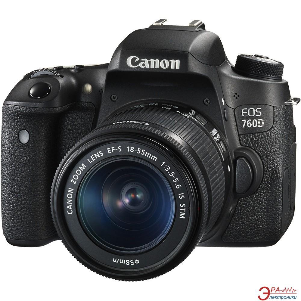 Зеркальная фотокамера Canon EOS 760D + объектив 18-135 IS STM (0021C014) Black