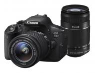 Зеркальная фотокамера Canon EOS 700D + объектив 18-55 STM + объектив 55-250mm STM (8596B087) Black