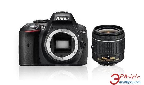 Зеркальная фотокамера Nikon D5300 + AF-P 18-55 Non-VR KIT (VBA370K016) Black