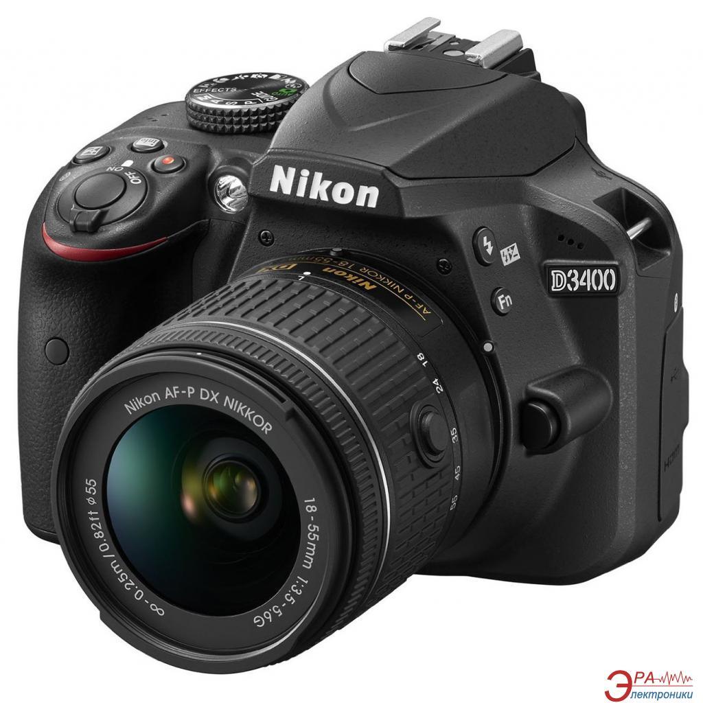 Зеркальная фотокамера Nikon D3400 + AF-P 18-55VR kit (VBA490K001) Black