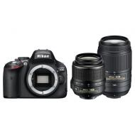 Зеркальная фотокамера Nikon D5100 Kit AF-S DX 18-55 VR + 55-300 VR (VBA310K004) Black