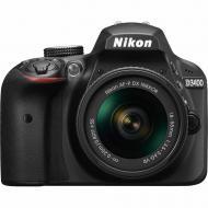 Зеркальная фотокамера Nikon D3400 + AF-P 18-55mm Non-VR KIT (VBA490K002) Black