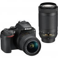 Зеркальная фотокамера Nikon D5600 + AF-P 18-55 VR + AF-P 70-300 VR (VBA500K004) Black