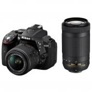 Зеркальная фотокамера Nikon D5300 + AF-P 18-55 VR + AF-P 70-300VR (VBA370K015) Black