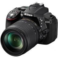 Зеркальная фотокамера Nikon D5300 KIT AF-S DX 18-105 VR (VBA370K004) Black