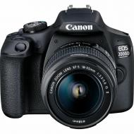 Зеркальная фотокамера Canon EOS 2000D 18-55 + 75-300 (2728C021AA) Black