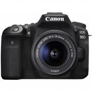 Зеркальная фотокамера Canon EOS 90D + 18-55 IS STM (3616C030) Black