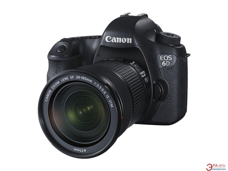 Зеркальная фотокамера Canon EOS 6D Body c Wi-Fi и GPS + объектив 24-105 IS STM (8035B129) Black