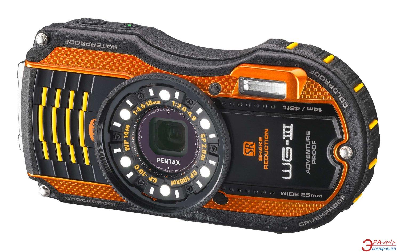 Цифровой фотоаппарат Pentax Optio WG-3 Black\Orange (1269406)