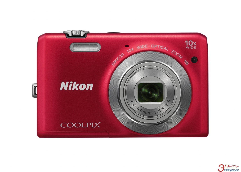 Цифровой фотоаппарат Nikon Coolpix S6700 Red (VNA661E1)
