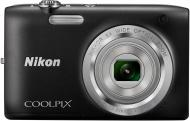 Цифровой фотоаппарат Nikon Coolpix S2800 Black (VNA571E1)