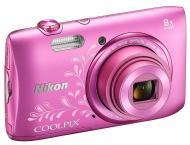 �������� ����������� Nikon Coolpix S3600 lineart Pink (VNA555E1)