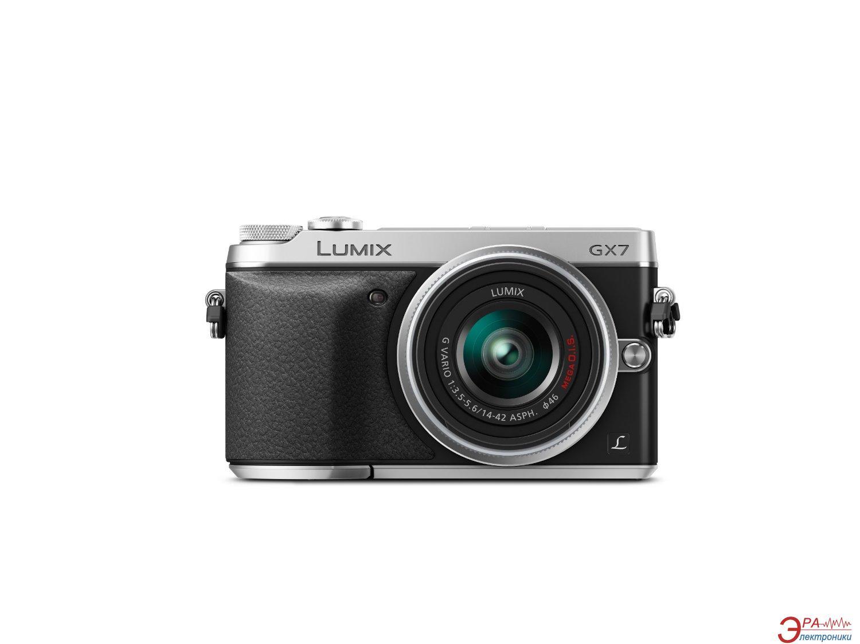 Цифровой фотоаппарат Panasonic DMC-GX7 Kit 14-42mm Silver (DMC-GX7KEE-S)