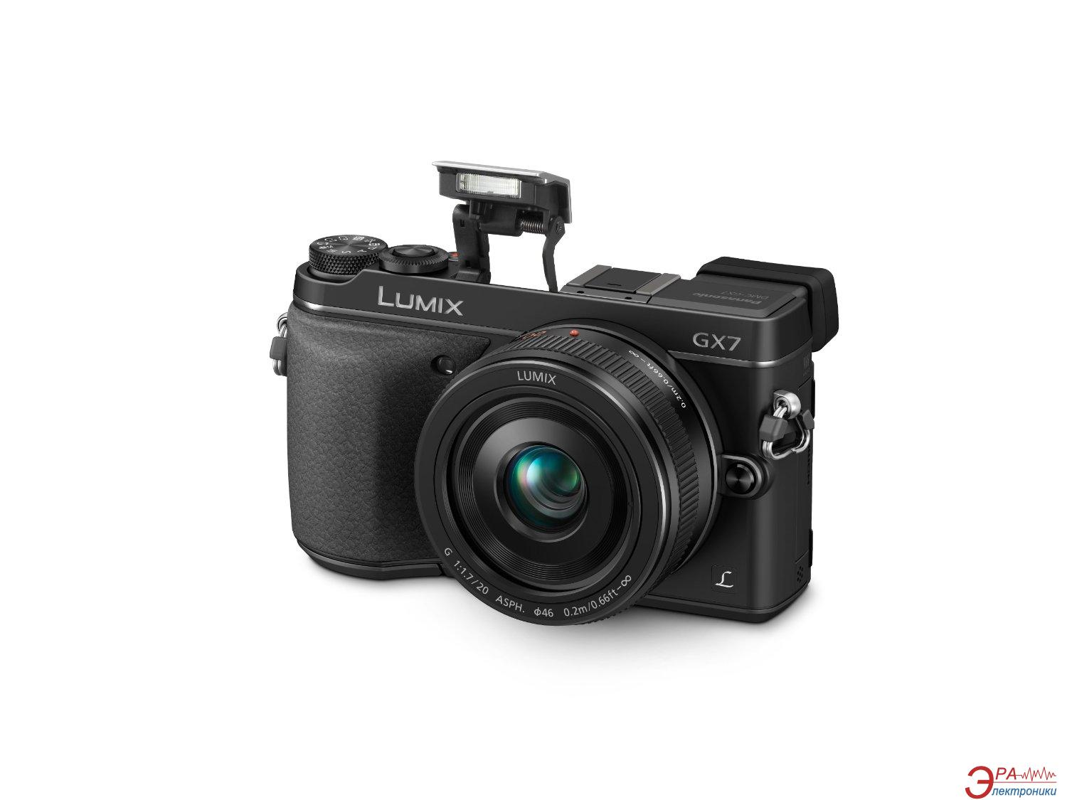 Цифровой фотоаппарат Panasonic DMC-GX7 Kit 20 mm Black (DMC-GX7CEE-K)