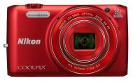 Цифровой фотоаппарат Nikon Coolpix S6800 Red (VNA521E1)