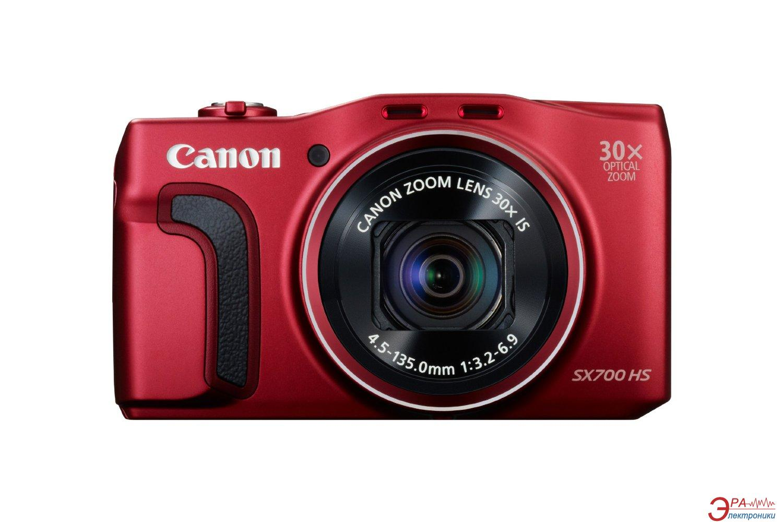 Цифровой фотоаппарат Canon Powershot SX700 HS Red (9339B013)