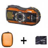 Цифровой фотоаппарат Pentax Optio WG-3 Black\Orange (1269400)