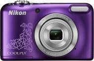 Цифровой фотоаппарат Nikon Coolpix L29 Lineart Purple (VNA683E1)