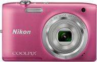 Цифровой фотоаппарат Nikon Coolpix S2800 Pink (VNA573E1)