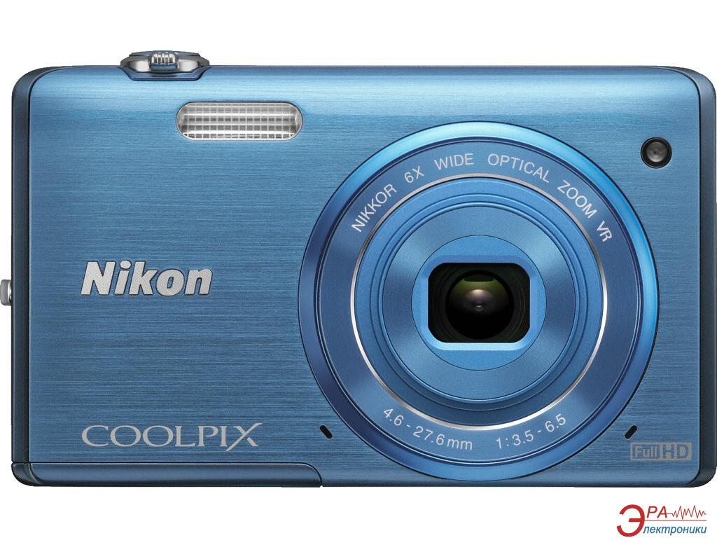 Цифровой фотоаппарат Nikon Coolpix S5200 Blue (VNA283E1)
