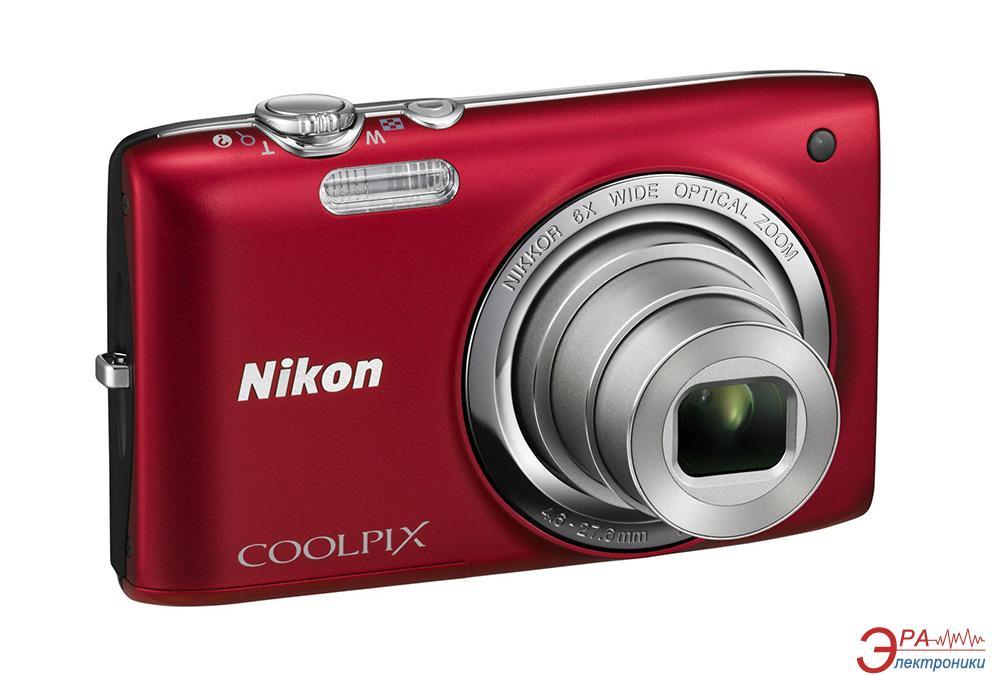 Цифровой фотоаппарат Nikon Coolpix S2750 Red (VNA401E1)