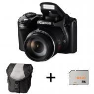 Цифровой фотоаппарат Canon PowerShot SX510 HS + чехол + карта памяти SD 2GB Black (8409B014)
