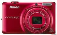 Цифровой фотоаппарат Nikon Coolpix S6500 Value Kit Red (VNA272KG01) + кожаный чехол, карта памяти SDHC 8 GB