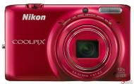 Цифровой фотоаппарат Nikon Coolpix S6500 Red (VNA272KG60) + диск с ПО ViewNX, карта памяти SDHC 8 GB