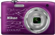 Цифровой фотоаппарат Nikon Coolpix S2800 lineart Purple (VNA575E1)