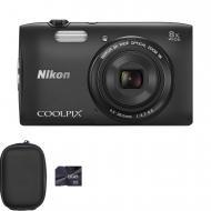 �������� ����������� Nikon Coolpix S3600 Black (VNA551KV01) + case + 8GB SD
