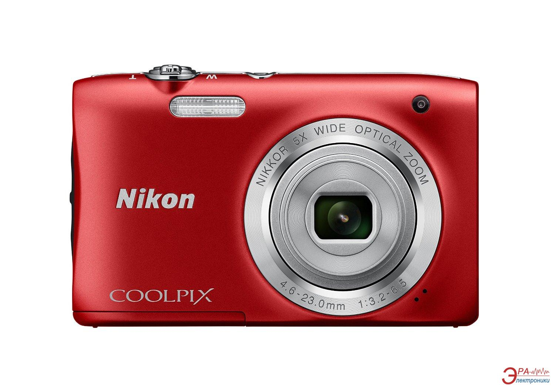 Цифровой фотоаппарат Nikon Coolpix S2900 Red (VNA832E1)