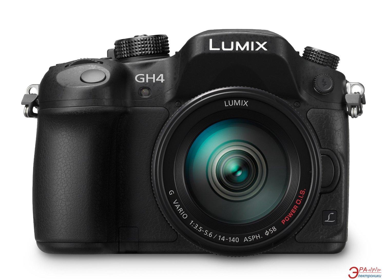 Цифровой фотоаппарат Panasonic DMC-GH4 14-140mm Kit Black (DMC-GH4HEE-K)
