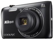 Цифровой фотоаппарат Nikon Coolpix S3700 Black (VNA821E1)