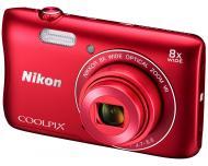 Цифровой фотоаппарат Nikon Coolpix S3700 Red (VNA822E1)