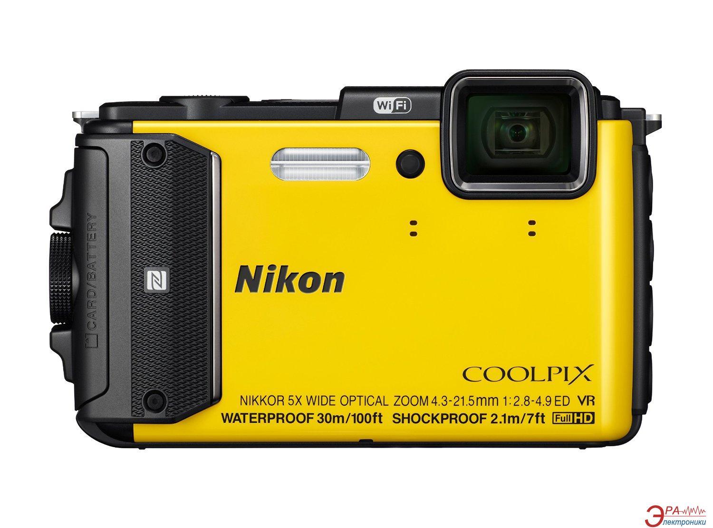 Цифровой фотоаппарат Nikon Coolpix AW130 Yellow (VNA844E1)