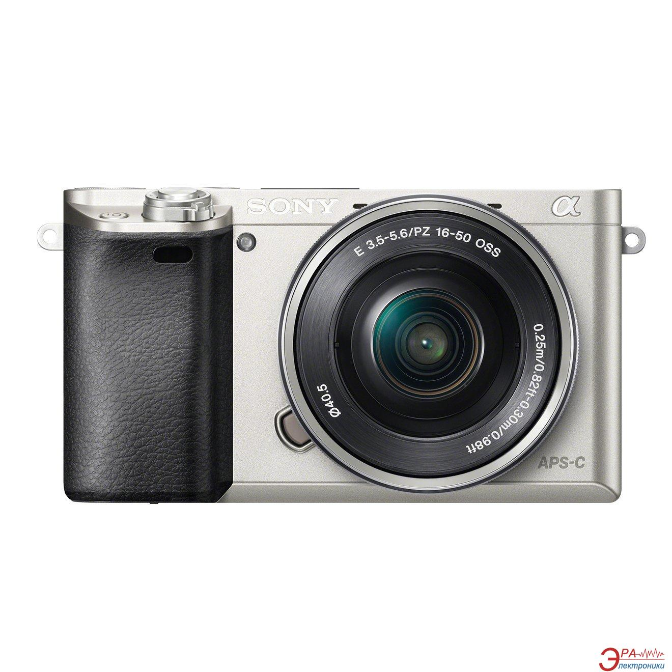 Цифровой фотоаппарат Sony Alpha 6000 + объектив 16-50 + 55-210mm kit Silver (ILCE6000YS.CEC)