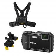 Цифровой фотоаппарат Nikon Coolpix AW130 Outdoor kit Black (VNA840k001)