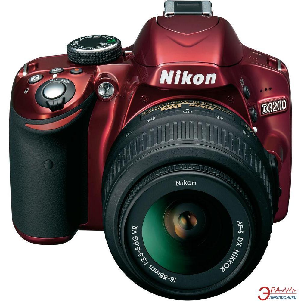 Зеркальная фотокамера Nikon D3200 KIT + 18-55VR (VBA331K001) Red