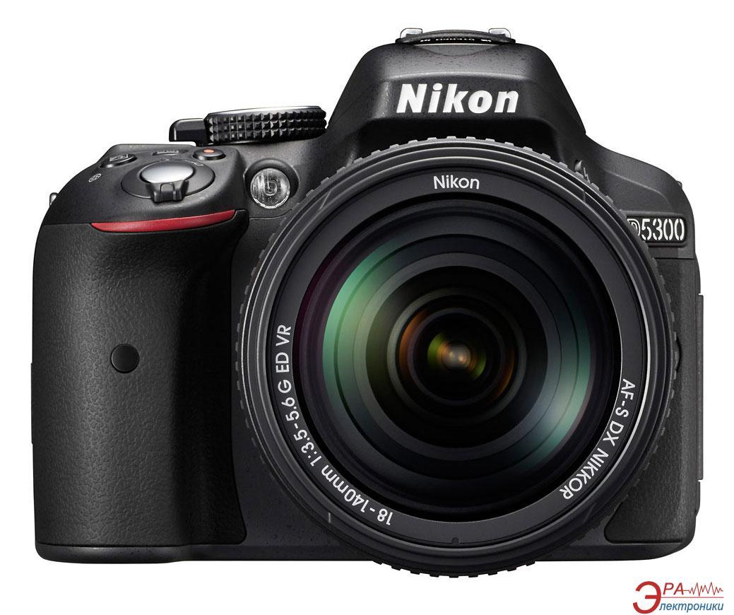 Зеркальная фотокамера Nikon D5300 + 18-140mm (VBA370KV02) Black