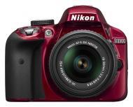 Зеркальная фотокамера Nikon D3300 + 18-55mm VR II KIT (VBA391K001) Red