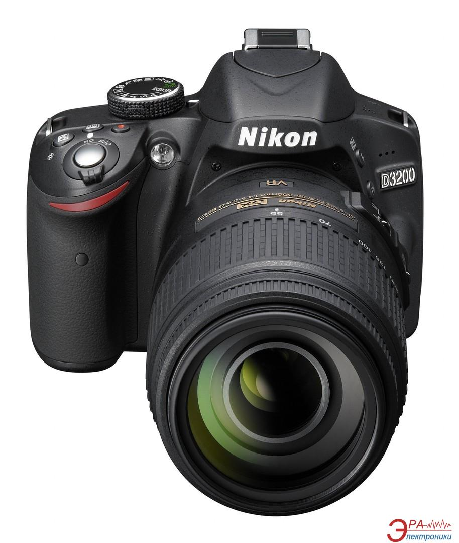 Зеркальная фотокамера Nikon D3200 KIT + 18-55mm VR II + 55-300 VR (VBA330KV06) Black