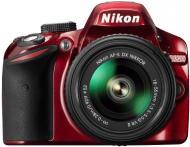 Зеркальная фотокамера Nikon D3200 KIT + 18-55mm VR II (VBA331K002) Red