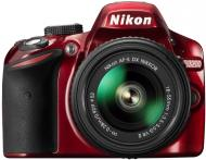 ���������� ���������� Nikon D3200 KIT + 18-55mm VR II (VBA331K002) Red