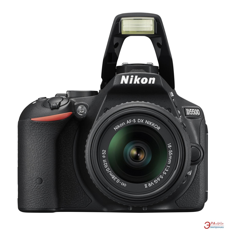 Зеркальная фотокамера Nikon D5500 18-55 VR II kit (VBA440K001) Black