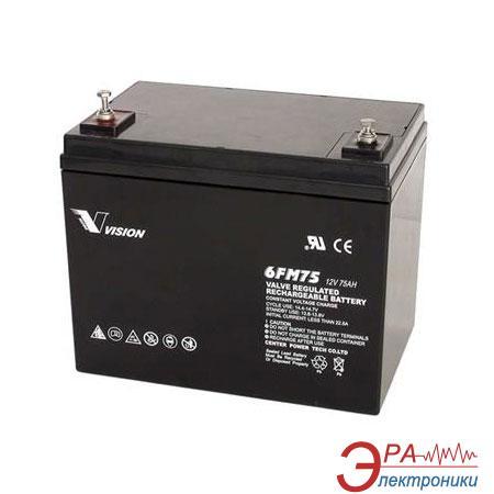 Аккумуляторная батарея Vision 12V 75Ah (6FM75-X)