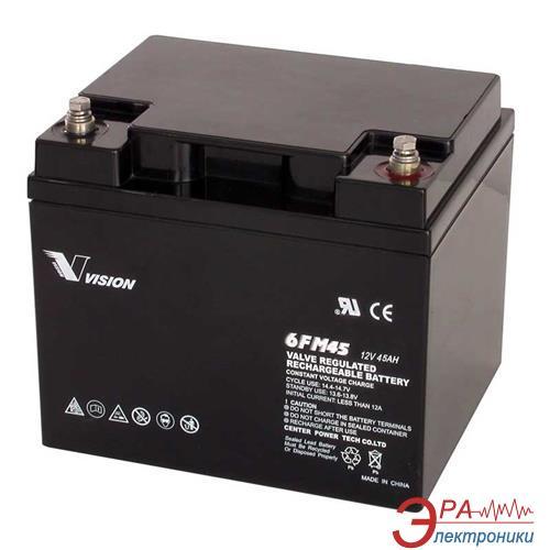 Аккумуляторная батарея Vision 12V 45Ah (6FM45-X)