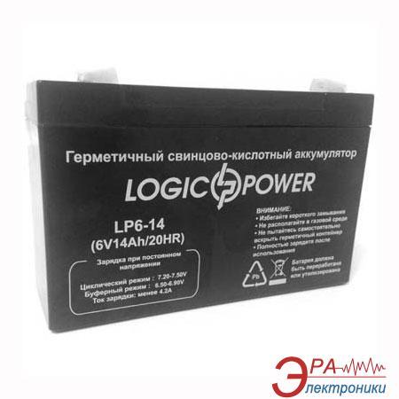 Аккумуляторная батарея LogicPower 6V 14AH