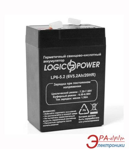 Аккумуляторная батарея LogicPower 6V 5.2AH